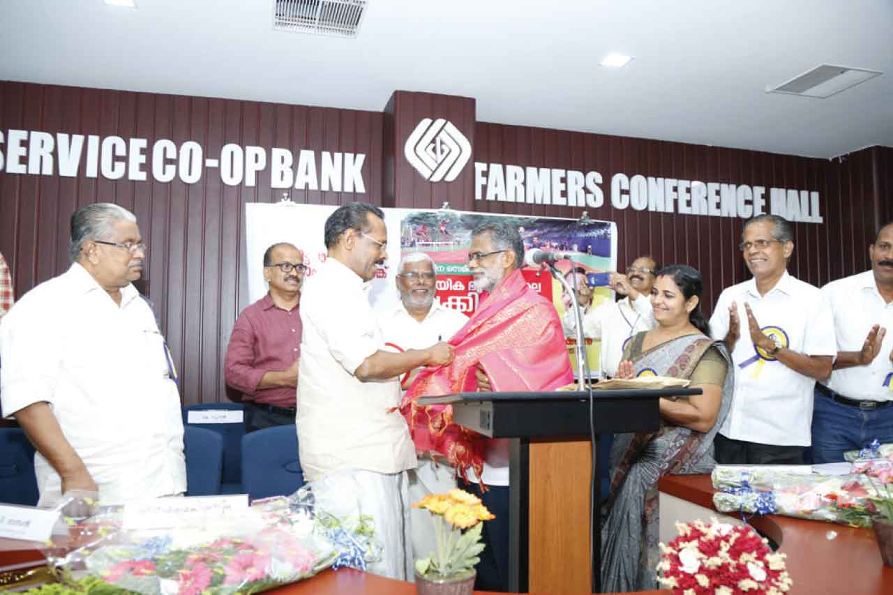 K.M Peter Honored for introducing many sportspersons donate to Kerala